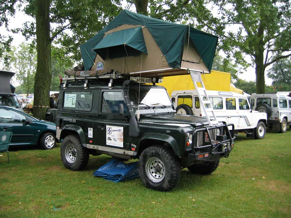 Roof-top tents were increasingly popular at the show with variations on the theme. Many trade stands supply interesting kit for overlanders. & Billing 2006